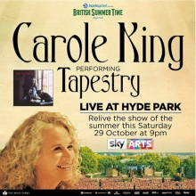 In July Of 2016 For The First Time Ever Carole King Performed Tapestry Its Entirety At A Sold Out Concert Presented By Bst London S Hyde Park
