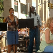 Pictured with Carole are (L-R) Sherry Goffin Kondor, Vanessa Thomas, Curtis King . Photo by David Atlas