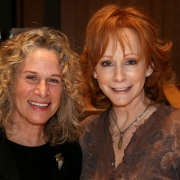 Carole and Reba smile for the camera. Photo by Glenn Sweiter
