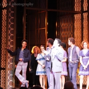 Carole peeks out just after curtain call. Photo by Elissa Kline