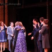 Carole King hugs Jessie Mueller, who plays Carole King. Photo by Elissa Kline