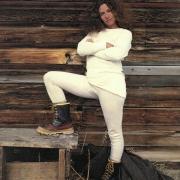 Carole King, Burgdorf, Idaho 1978. Photo by Annie Leibovitz