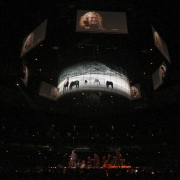 """Chicago - Overhead Stage during """"Way Over Yonder"""".  Photo by Elissa Kline"""