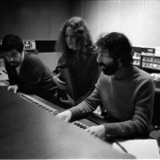 Mixing Tapestry with Hank Cicalo & Lou Adler. Photo by Jim McCrary from the collection of Lou Adler
