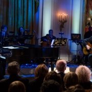 "James Taylor & Billy Joel perform during a concert honoring Carole King  in the East Room of the White House, May 22, 2013. President Barack Obama presented King with the 2013 Library of Congress Gershwin Prize for Popular Song. ""Carole King: The Library of Congress Gershwin Prize In Performance at the White House""  can be viewed on pbs.org . Photo credit: White House Photo by David Lienemann."