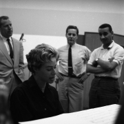 Carole working in Studio B of the RCA Studio in New York City 1959. Photos Courtesy of Sony Music Entertainment Archive