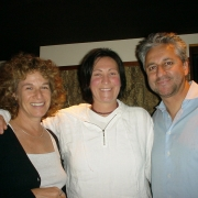Carole, k.d Lang, Humberto Gatica.  Photo by Rudy Guess