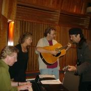 Paul Brady, Carole, Gary Burr and Mark Hudson. Photo by Rudy Guess