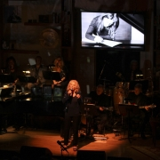 "Carole singing ""Now & Forever"" dedicated to Phil Ramone.   Photo by Elissa Kline"