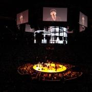 Newark - Arena stage and screens. Photo by Elissa Kline