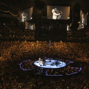 Newark -  Carole, James & a packed arena. Photo by Elissa Kline