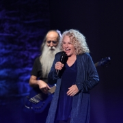 Santa Barbara - Leland Sklar, Carole King. Photo by Elissa Kline