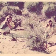 Sherry & Louise Goffin in Laurel Canyon. Carole King Family Archives