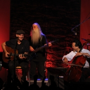 Tanglewood - James Taylor, Lee Sklar and special guest Yo-Yo Ma. Photo by Elissa Kline