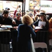Carole & fans - Hollywood Blvd.  Photo by Elissa Kline