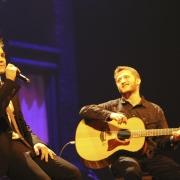 "Jesse McCartney & Dillon Kondor performing ""Home Again"".  Photo by Elissa Kline"