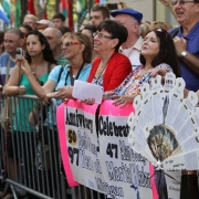 Beautiful fans at the Today Show.  Photo: Elissa Kline