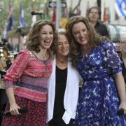 Chilina Kennedy, Carole and  Abby Mueller. Photo: Elissa Kline
