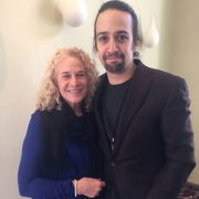 Carole King & Lin-Manuel Miranda     Photo by Elissa Kline