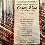 Invite.  2013 Gershwin Prize Library of Congress Concert.  Photo by Elissa Kline