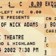 Ticket Stub from the Show. Photo by HITWG